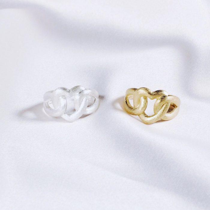 A.Brask - Justerbar ring - Hjerte ring