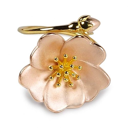 A.Brask - Vildrose justerbar ring - Smykker