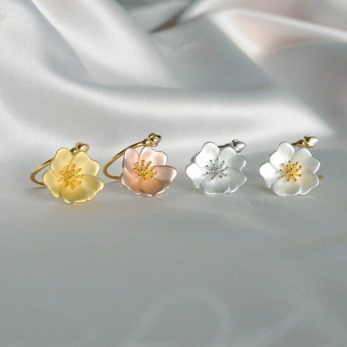 A.Brask - Vild rose justerbar ring