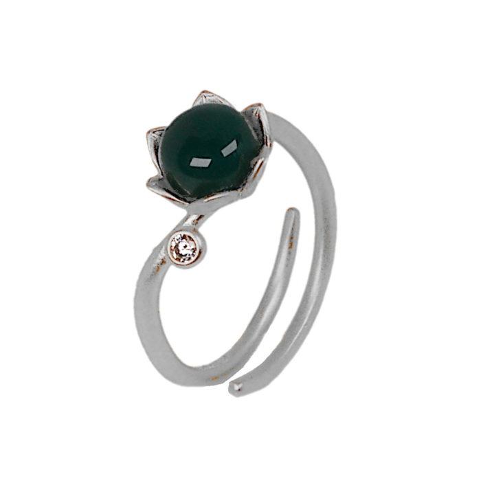 Bonderose justerbar ring -sølv
