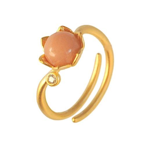 Bonderose justerbar ring - guld