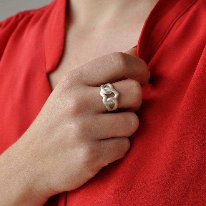 A.Brask - Min for evigt - Ring i sølv - Håndmodel