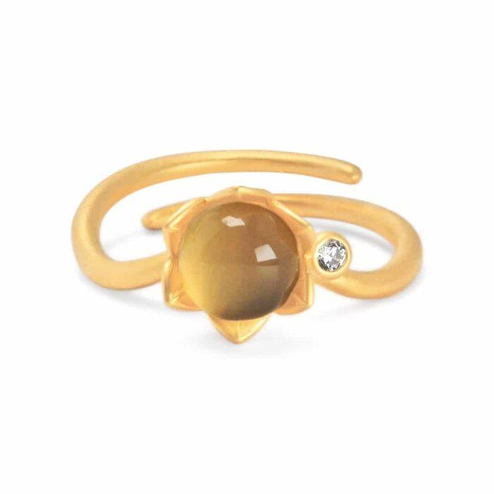 A.Brask - Bonderose justerbar ring - guld - Ring