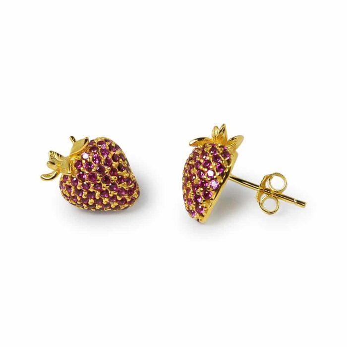 A.Brask - Jordbær ørestikker - Ørering