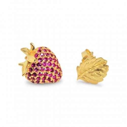 A.Brask - Jordbær mismatch ørestikker - Ørering