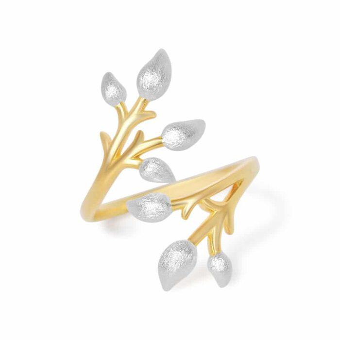 A.Brask - Blomstrende gren fuld justerbar ring - Smykker