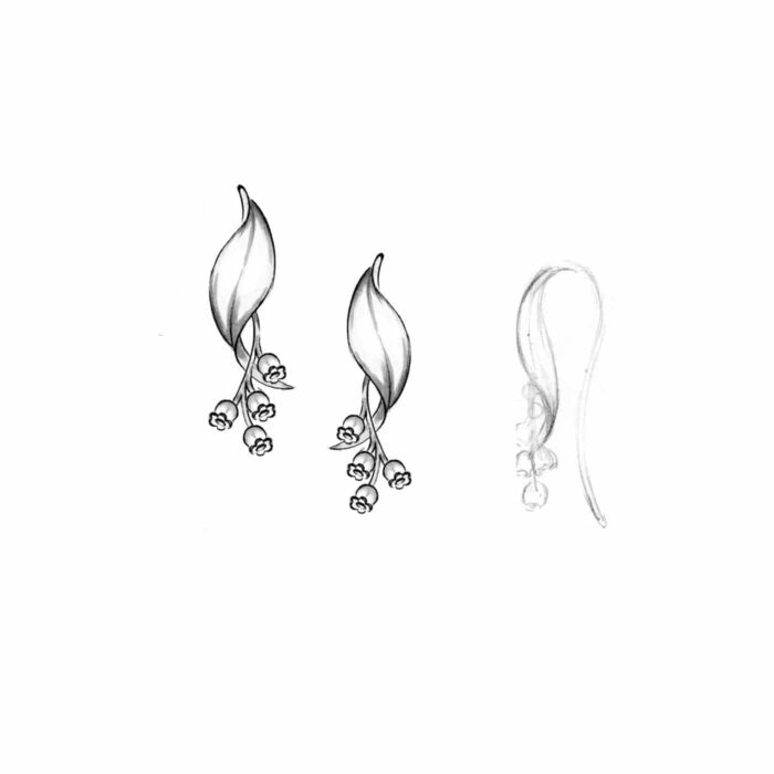 Liljekonval øreringe - A.Brask