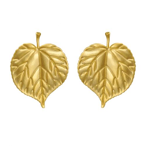 Lindetræ blad øreringe - A.Brask