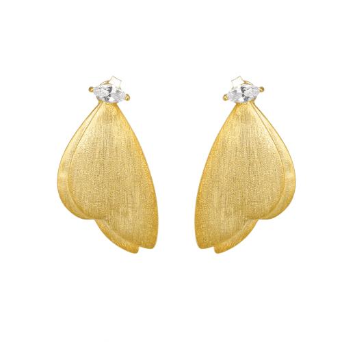 Sommerfugl øreringe med sten - A.Brask